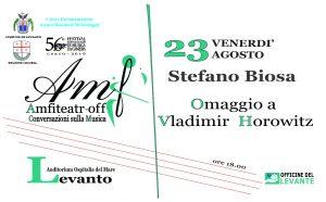 Amfiteatr-off: Stefano Biosa - Omaggio a Vladimir Horowitz @ Auditorium Ospitalia del Mare