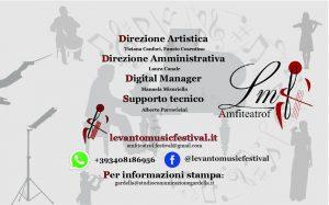 l'organizzazione del festival